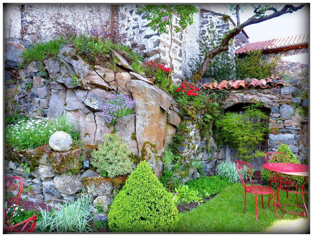 Mur de rocaille de christian villain plantes fleurs - Faire une rocaille ...