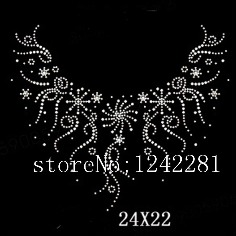 d2827af32f NEW hot fix rhinestone Neckline pattern design stone rhinestone iron ...