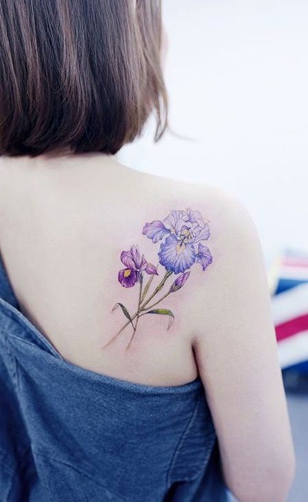 a6dc5083a Really like the way this iris was done. Tattooist Banul flower tattoo
