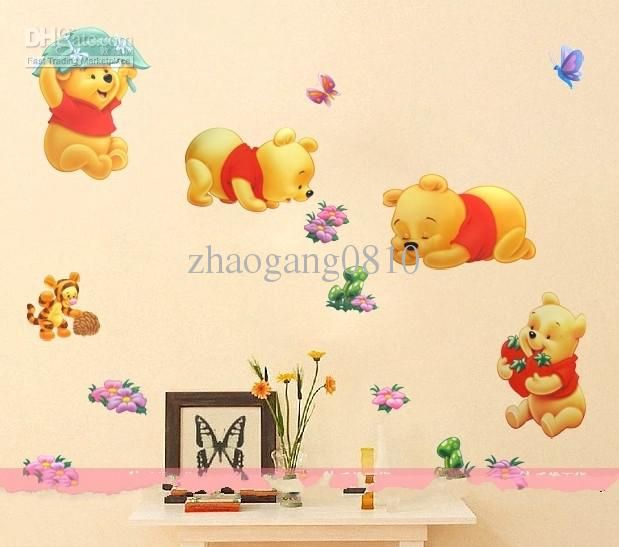 Whole Sticker Winnie The Pooh Wall Decals Nursery Baby Room Play Diy Stickers Decor 1 51 Dhgate