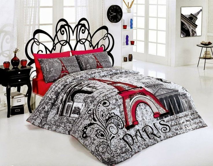 bedroom decor ideas and designs top ten paris themed bedding sets decorating inspiration. Black Bedroom Furniture Sets. Home Design Ideas