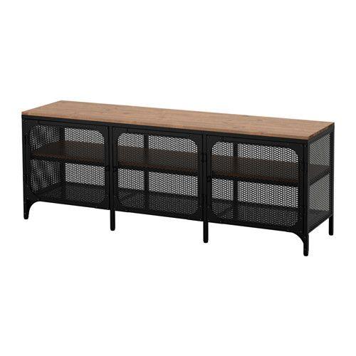fj llbo tv bank schwarz ikea tv og tr. Black Bedroom Furniture Sets. Home Design Ideas
