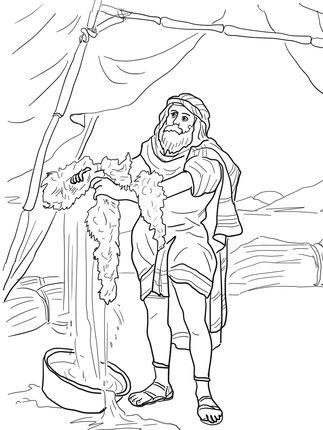 Click to see printable version of Gideon and the Fleece