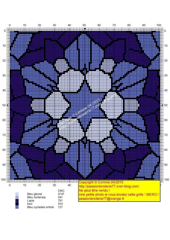 Blue stained grids   Xstitch patterns   Pinterest   Punto de cruz ...