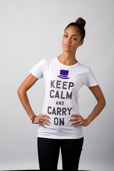LOVE Duke & Winston!  Keep Calm Womens Tee (white)