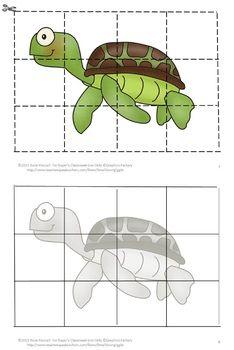 Ocean Animals, Puzzles, Kindergarten, Special Education ,C