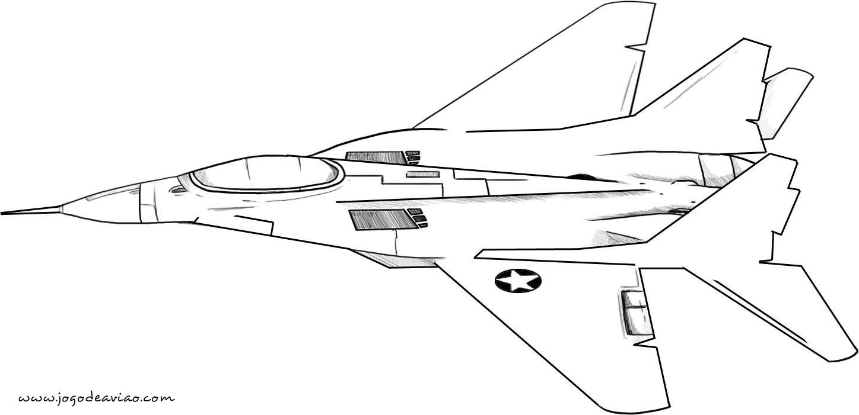 Desenhos Para Colorir - Avião Para Colorir