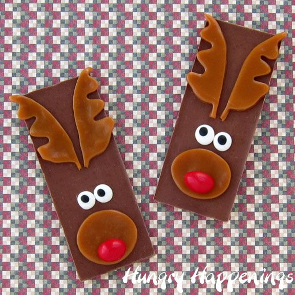 Nice Edible Christmas Craft Ideas Part - 12: Hungry Happenings: Edible Christmas Craft - Rudolph The Red Nose Reindeer  Candy Bars