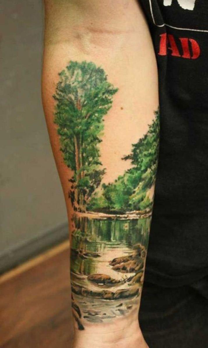 tree tattoos for men   -tree-tattoo-design-on-leg-best-tattoo-for ...