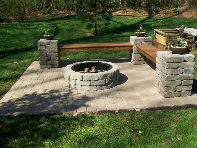 stone fire pit kits menards for wood burning sale backyard size