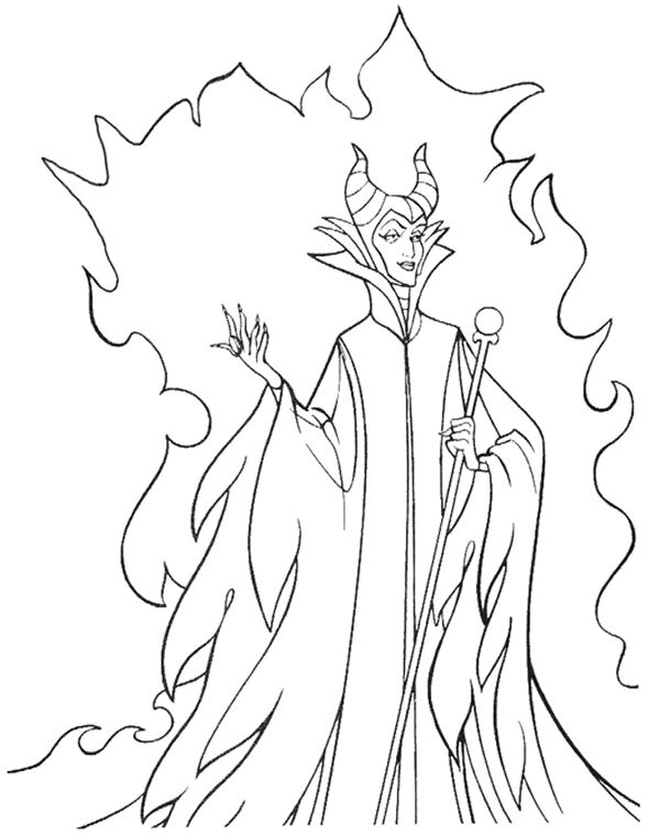 Disney villains coloring pages Sleeping beauty coloring