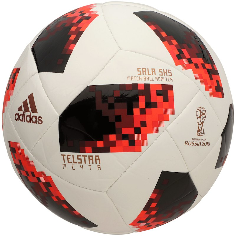 Adidas 2018 Fifa World Cup Knockout S5x5 Soccer Ball White Red In 2020 Soccer Ball Soccer Balls Fifa World Cup