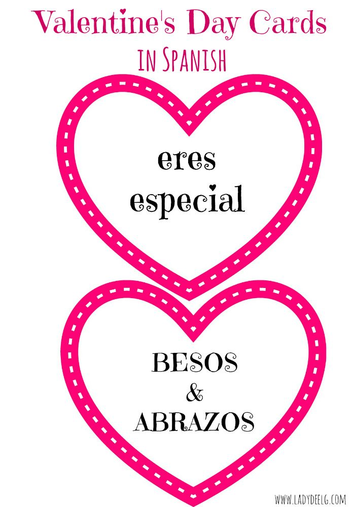 FREE Spanish Valentine\'s Day Cards with AUDIO and translation key ...