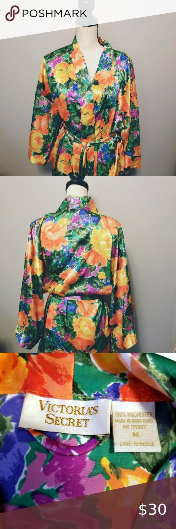 vtg M victorias secret gold tag kimono robe