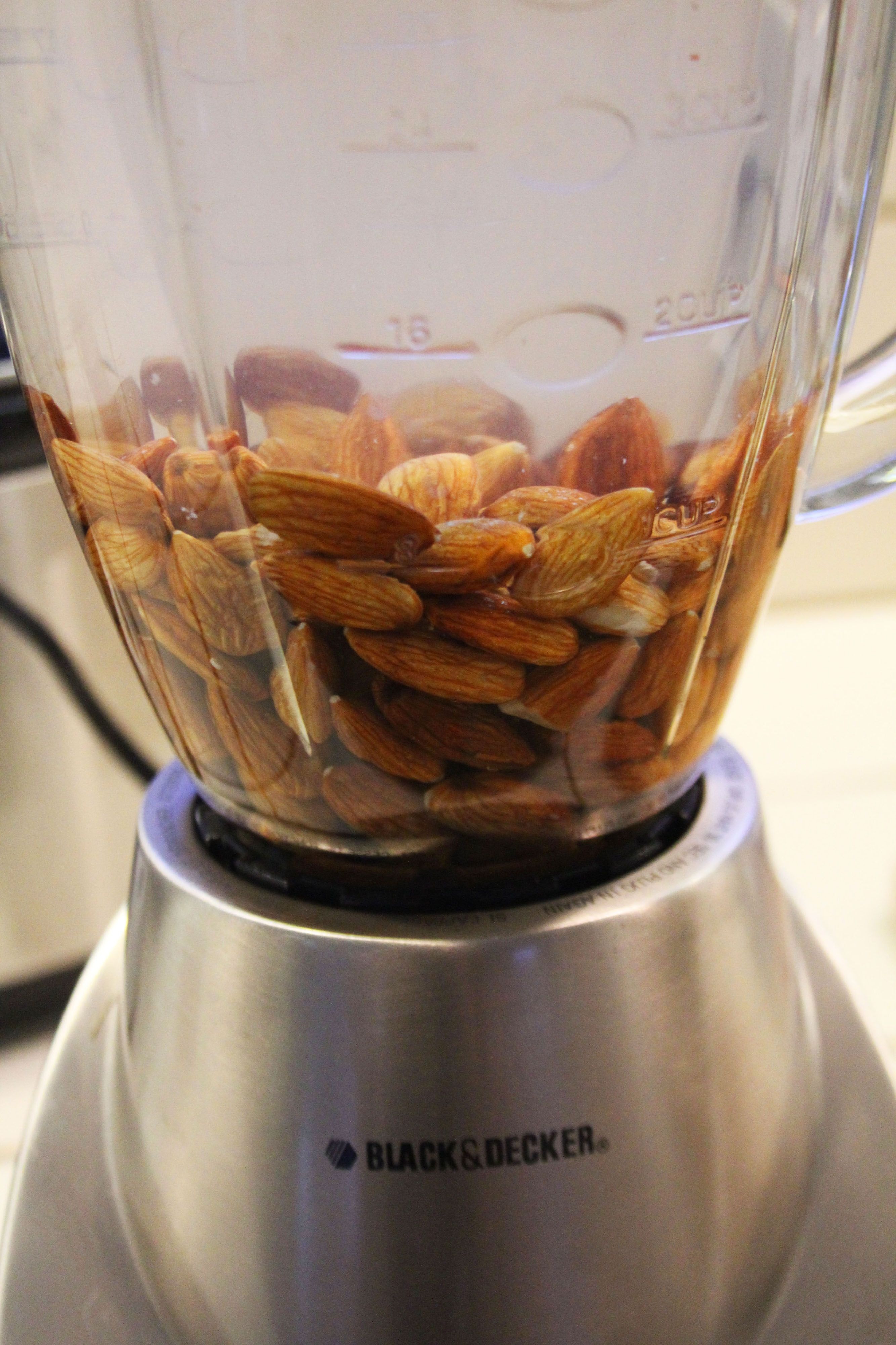 Homemade almond milk so yummy