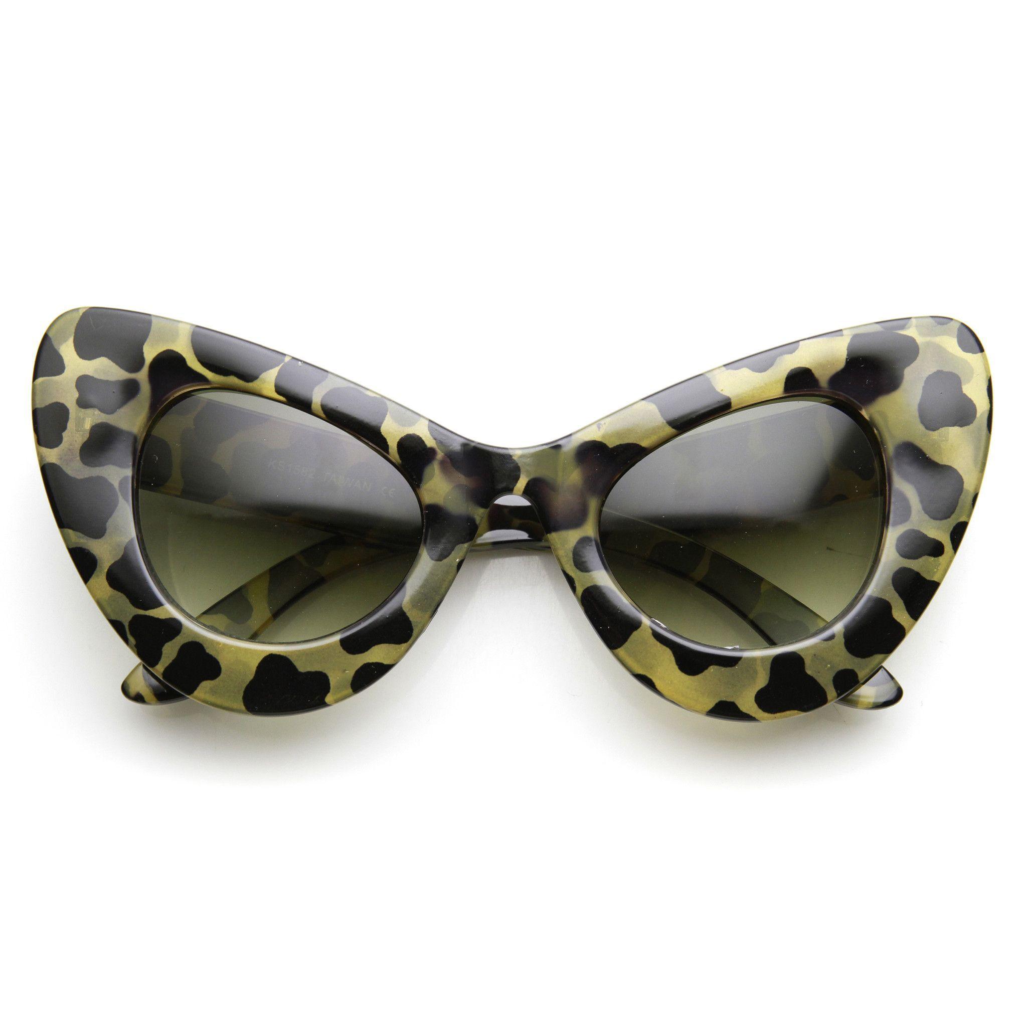 5c86c665fb High Fashion Bold Oversized Women s Cat Eye Sunglasses