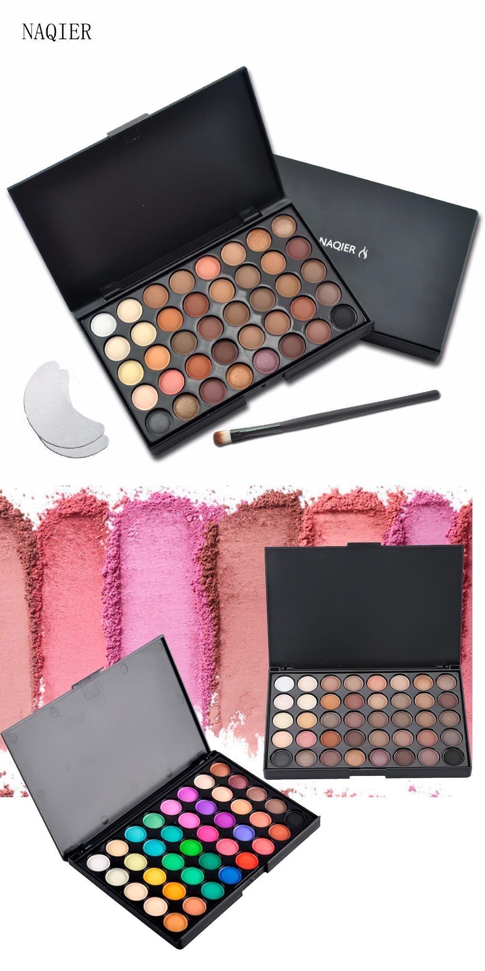 Visit to Buy  NAQIER 40 Color Matte Eyeshadow Pallete Make Up Earth Palette  Eye 1e182cb3df