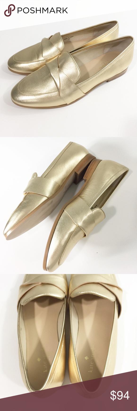 83cc5d882ad Kate Spade Satchi gold metallic loafer flats Sz 8 Kate Spade Satchi gold  metallic loafer flats