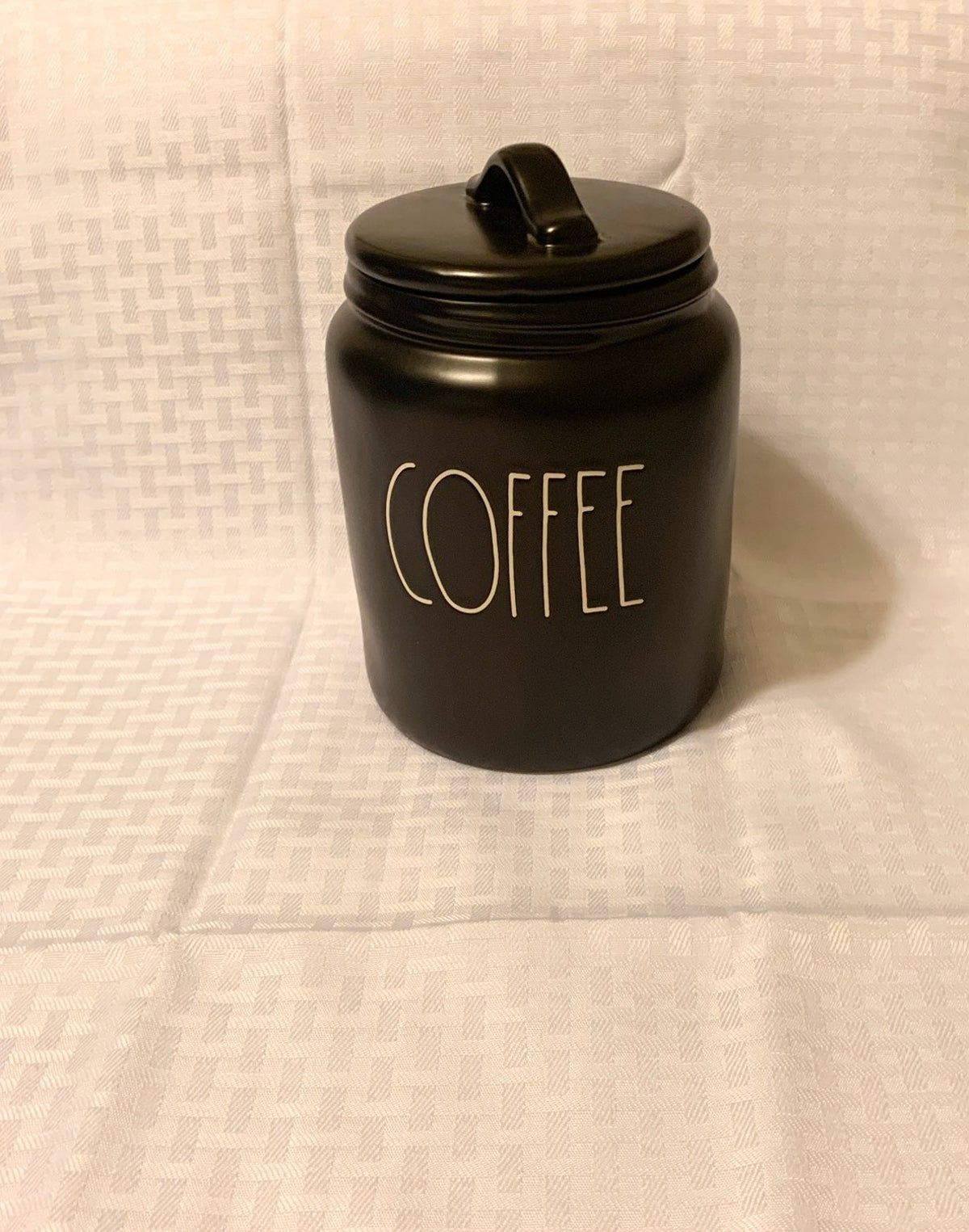 Photo of Rae Dunn coffee canister