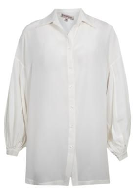 Camisa Seda Carina Duek Juliana Off-White – Carina Duek - http://batecabeca.com.br/camisa-seda-carina-duek-juliana-off-white-carina-duek.html
