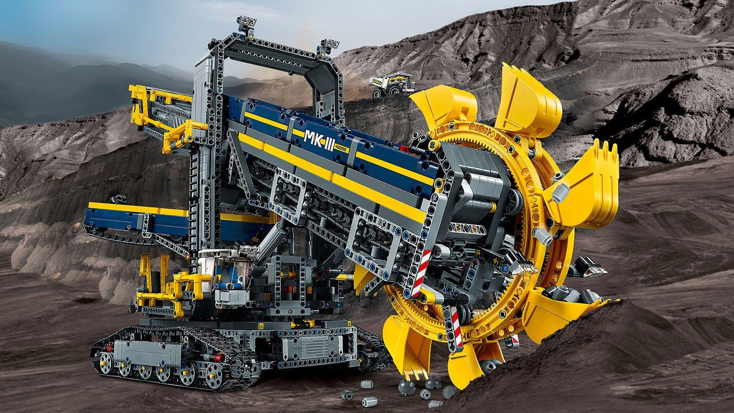Emmerwiel Graafmachine 42055 Technic Officiele Lego Winkel Be Big Lego Lego Technic Sets Lego Technic