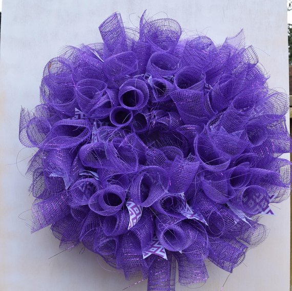 Purple Punch Deco Mesh Wreath