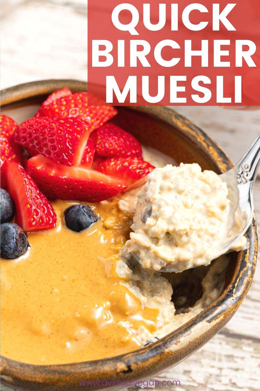 Bircher Muesli | Recipe in 2020 | Muesli, Delicious vegan ...
