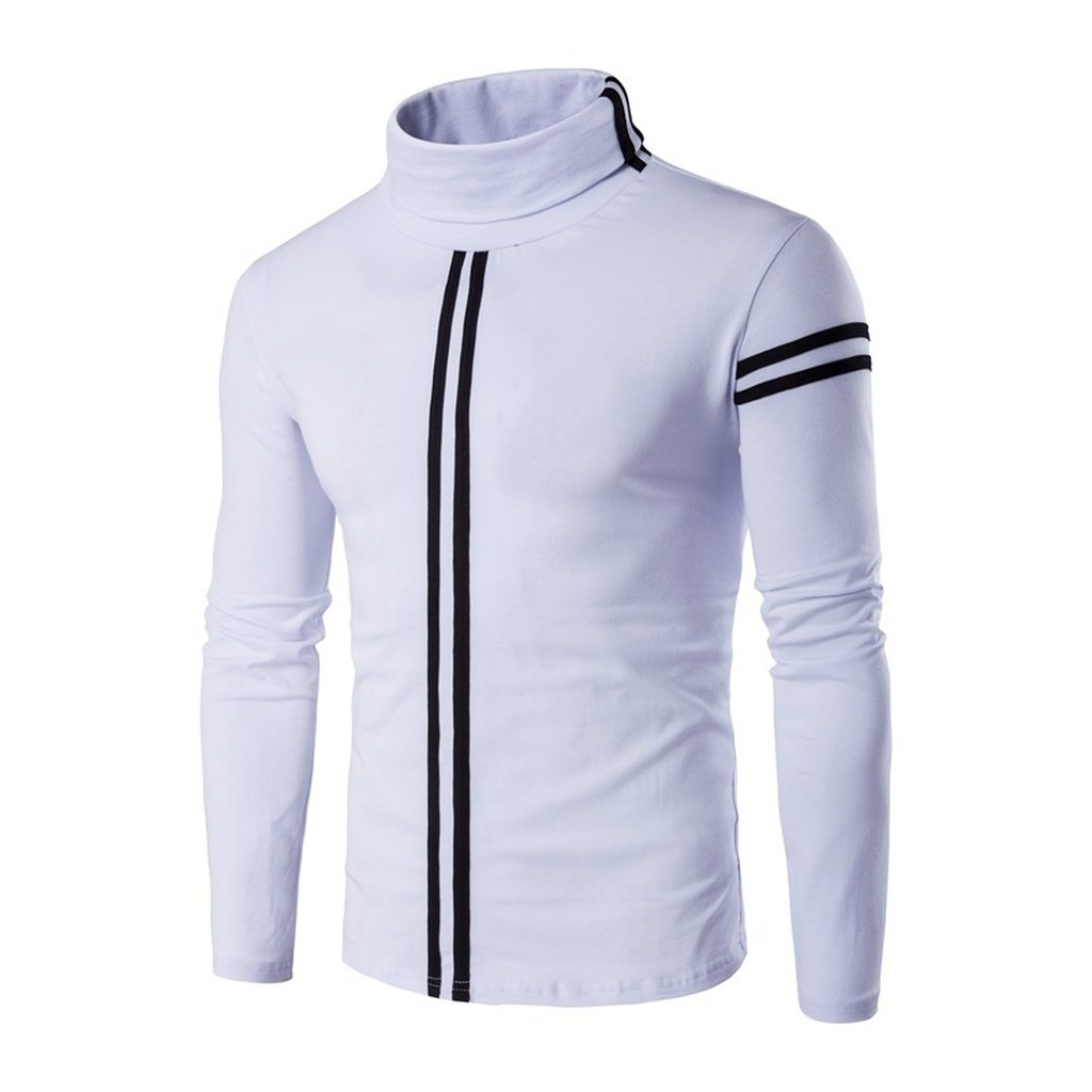 Men's fashion casual Slim sports cotton thermal underwear shirt round neck  long-sleeved T-