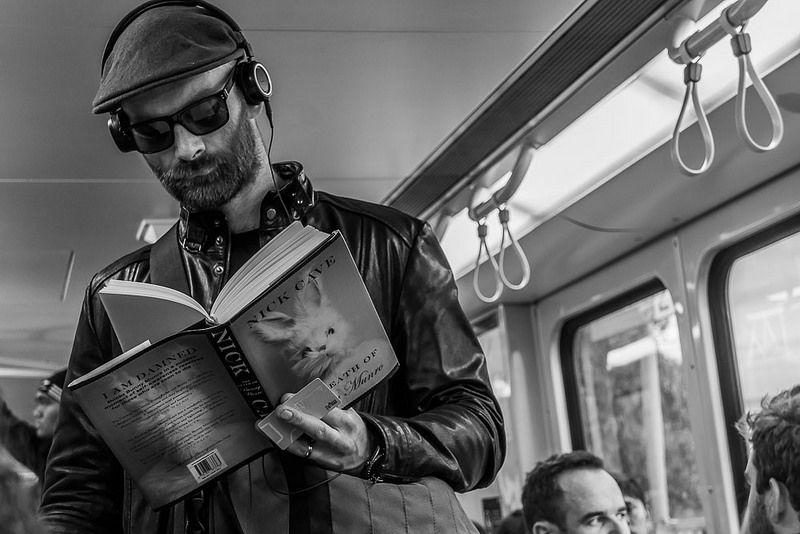On the Train With Bunny Munro Melbourne Australia June 2014