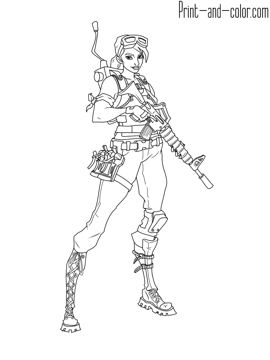 Fortnite Battle Royale Coloring Page Master Grenadier Coloring