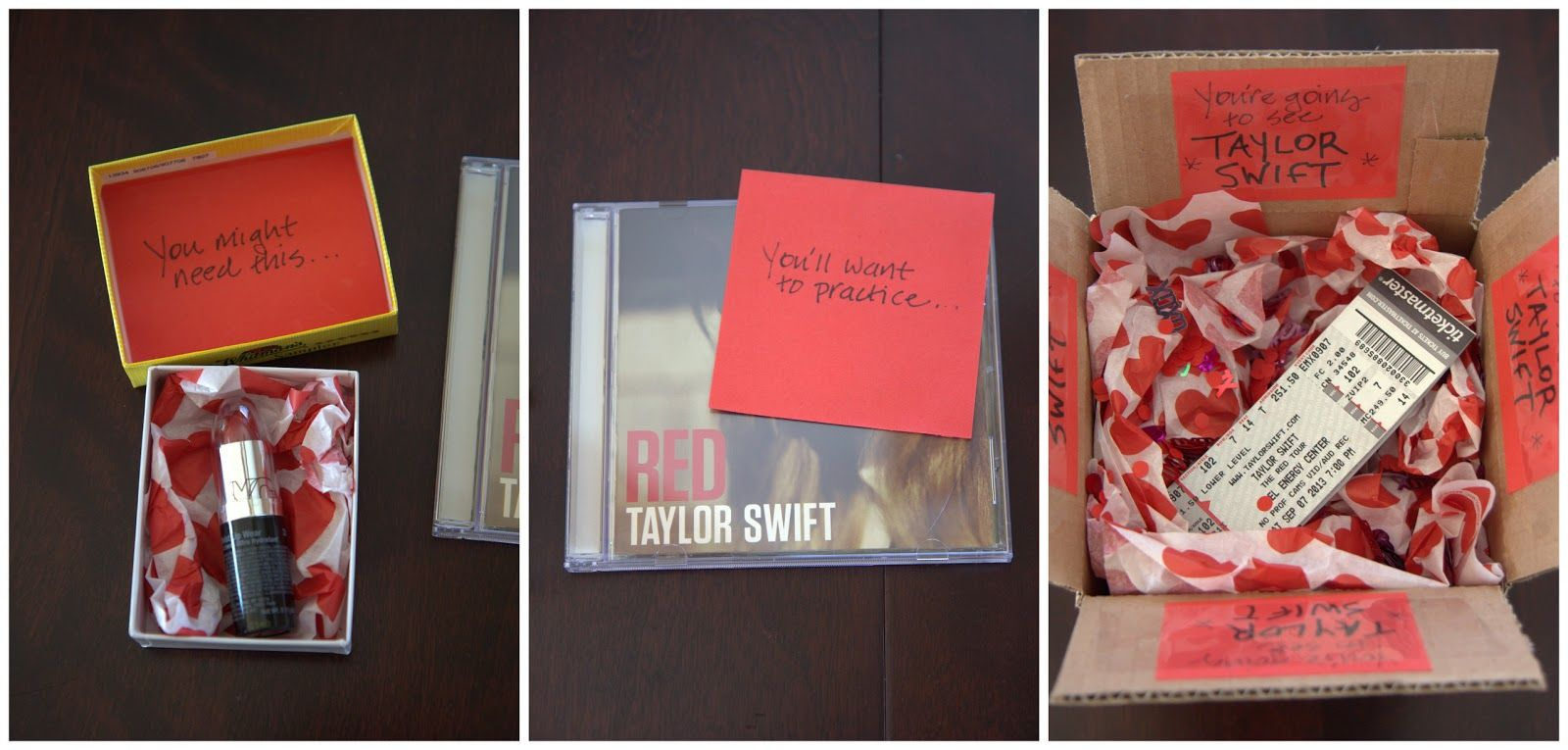 Taylor Gift: Taylor Swift Perfect!!! Include Red Lipstick And Wrap