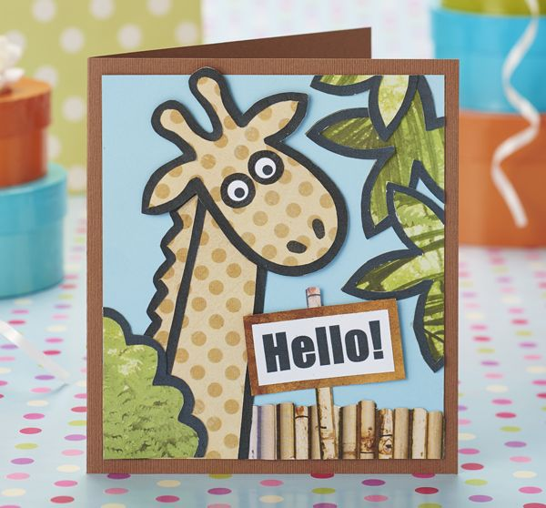 Free Printable Birthday Card Template Free Safari Printables From Papercraft Inspirations 139  Card .