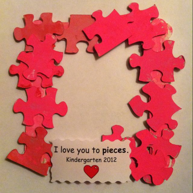 I Love You To Pieces Valentine Frame A Great Way To Recycle