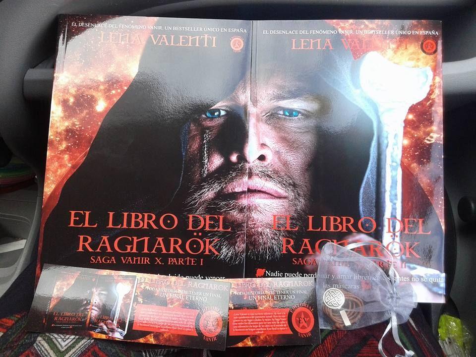 Recien llegaditos a casa.... ahora a leer el Ragnarök #LenaValenti #SagaVanir #LibroDelRagnarök