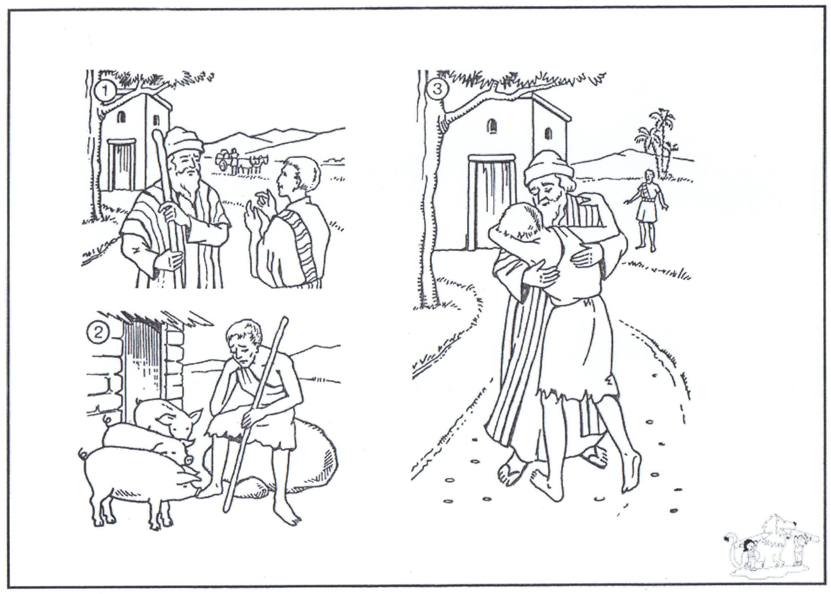 The Parable Of The Prodigal Son Sunday School Coloring Pages