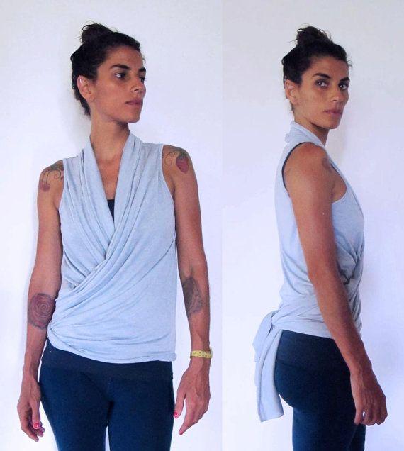 Wrap around shawl vest top. Multi  yoga clothes  by Kayayogawear, $52.00