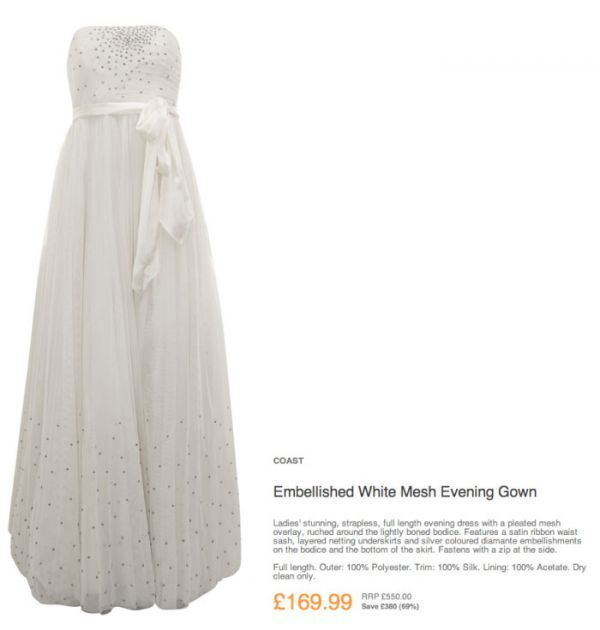 Affordable Wedding Dress From TKmaxx