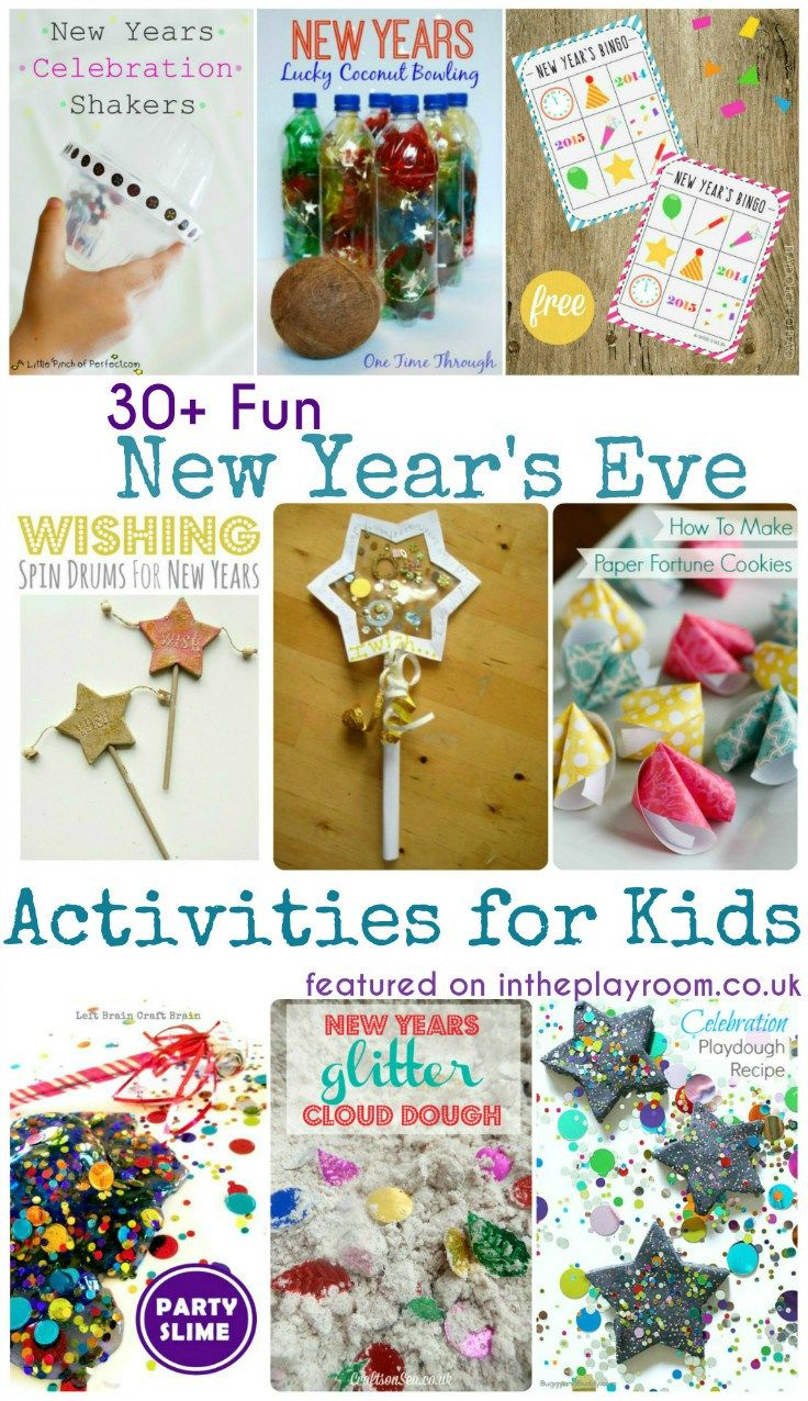 new years eve activities for kids fireworks craft party games and