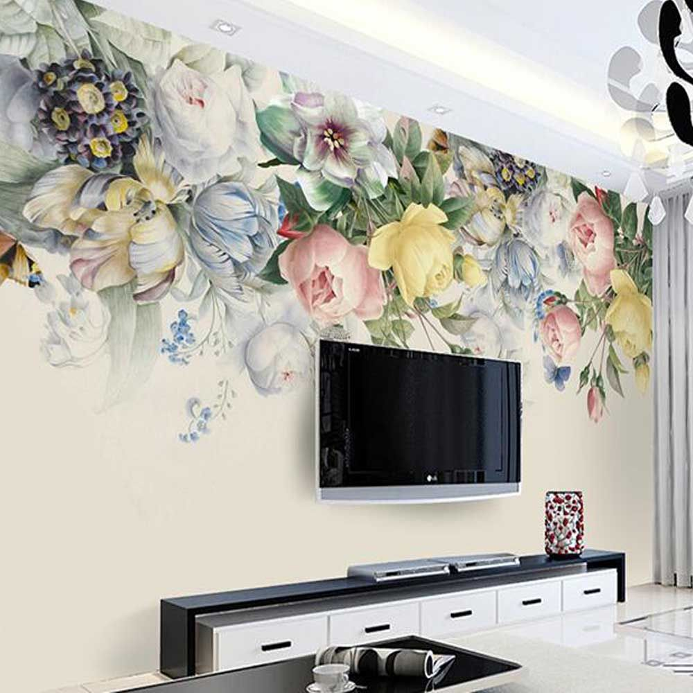 Find More Wallpapers Information about Europe Style flower Wall ...