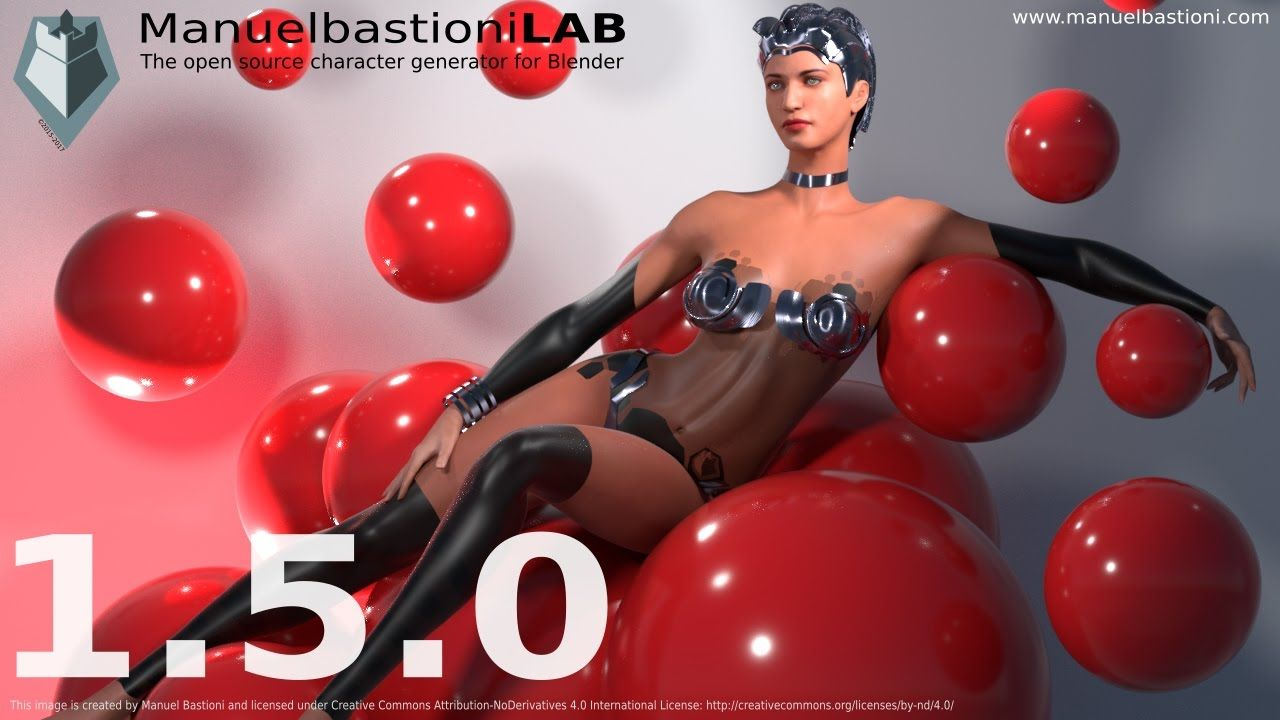 The version 1 5 0 of ManuelbastioniLAB, the free and open