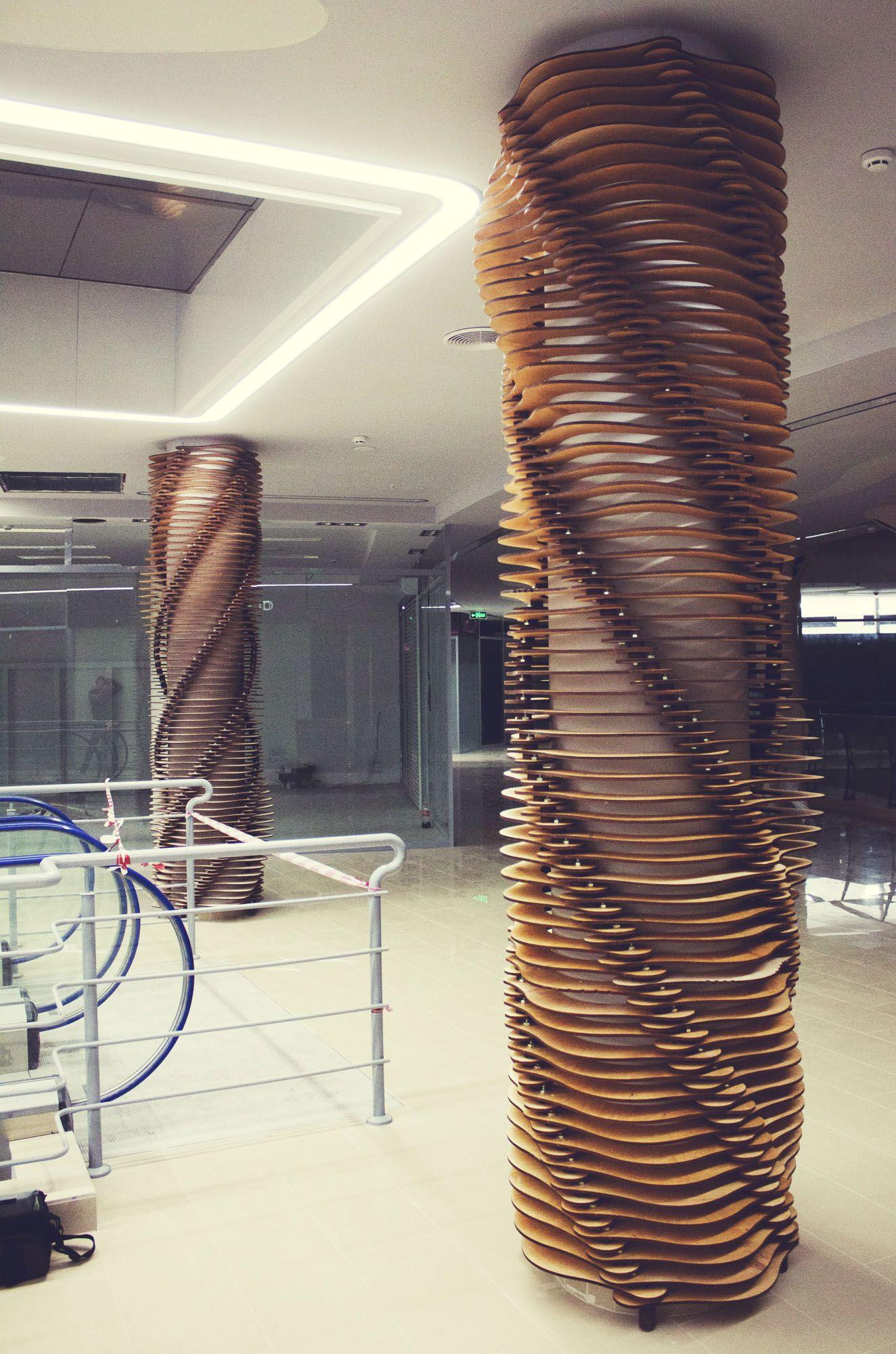 Column treatment design charrette image cards pillar - Decorative columns interior ideas ...