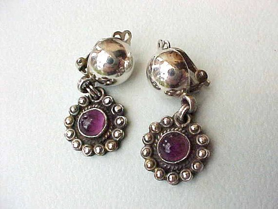 Beautiful Vintage Mexican Silver Dangling by TheJewelMystique, $40.00