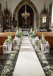 Topic Church Decor für Hochzeit: 60 kreative Ideen inspiriert zu werden – Neu dekoration stil…
