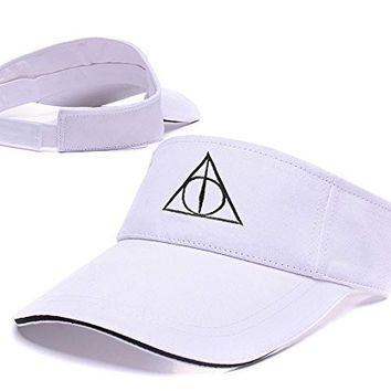Zhhua harry potter and the deathly hallows logo adjustable zhhua harry potter and the deathly hallows logo adjustable embroidery tennis golf baseball hat sun visor ccuart Images