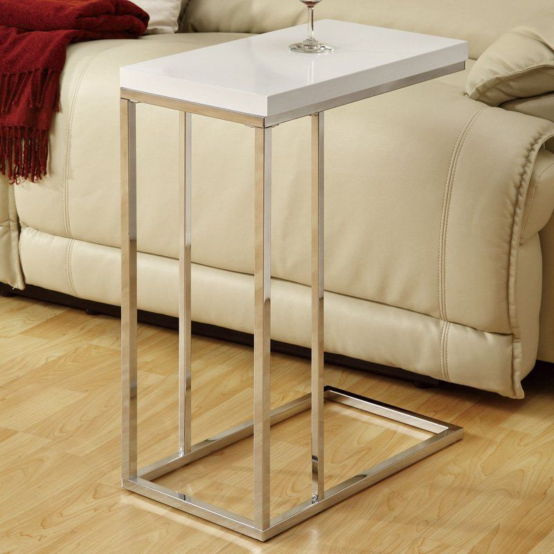 Have To Have It Monarch Rectangular Chrome Metal Accent Table
