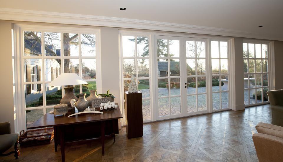 Hardhouten tuindeuren de jong kozijnen houten tuindeuren tuindeuren pinterest jaren 30 - Studio stijl glazen partitie ...