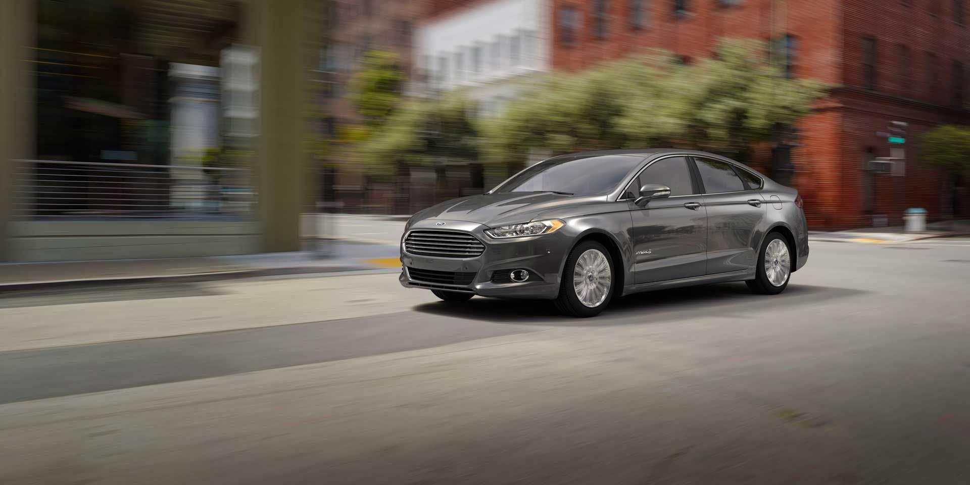 2015 Ford Fusion Vehicles on Display Hybrid car