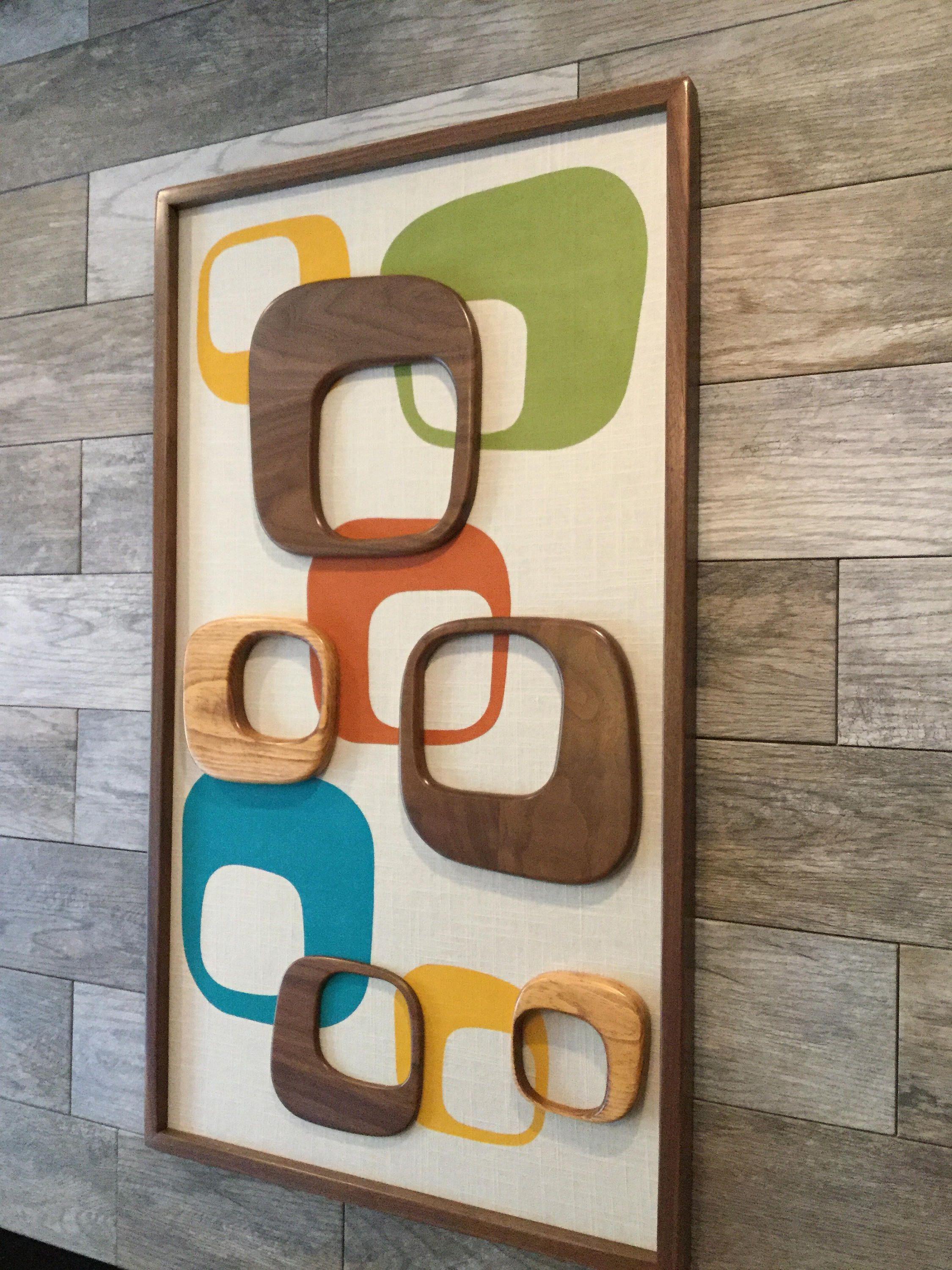 Mid century modern witco abstract wall art sculpture painting atomic