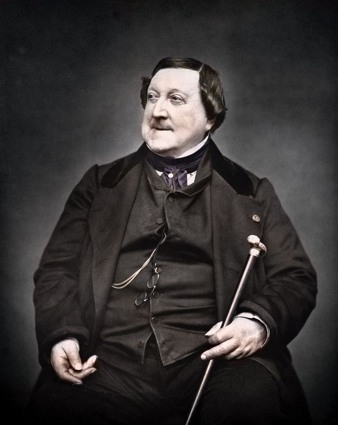 Gioachino Antonio Rossini (1792–1868), was an Italian composer who wrote 39 operas as well as sacred music, chamber music, songs, and some instrumental and piano pieces. His best-known operas include Il barbiere di Siviglia, La Cenerentola, Il viaggio a Reims, L'italiana in Algeri, Il turco in Italia, Semiramide, Tancredi, Otello, and Guillaume Tell. A tendency for inspired, song-like melodies is evident throughout his scores.
