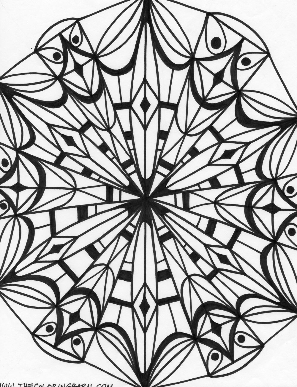 Free coloring pages kaleidoscope designs - Printable Kaleidoscope Patterns Kaleidoscope 6 Coloring Page Kaleidoscope 7 Coloring Page Kaleidoscope